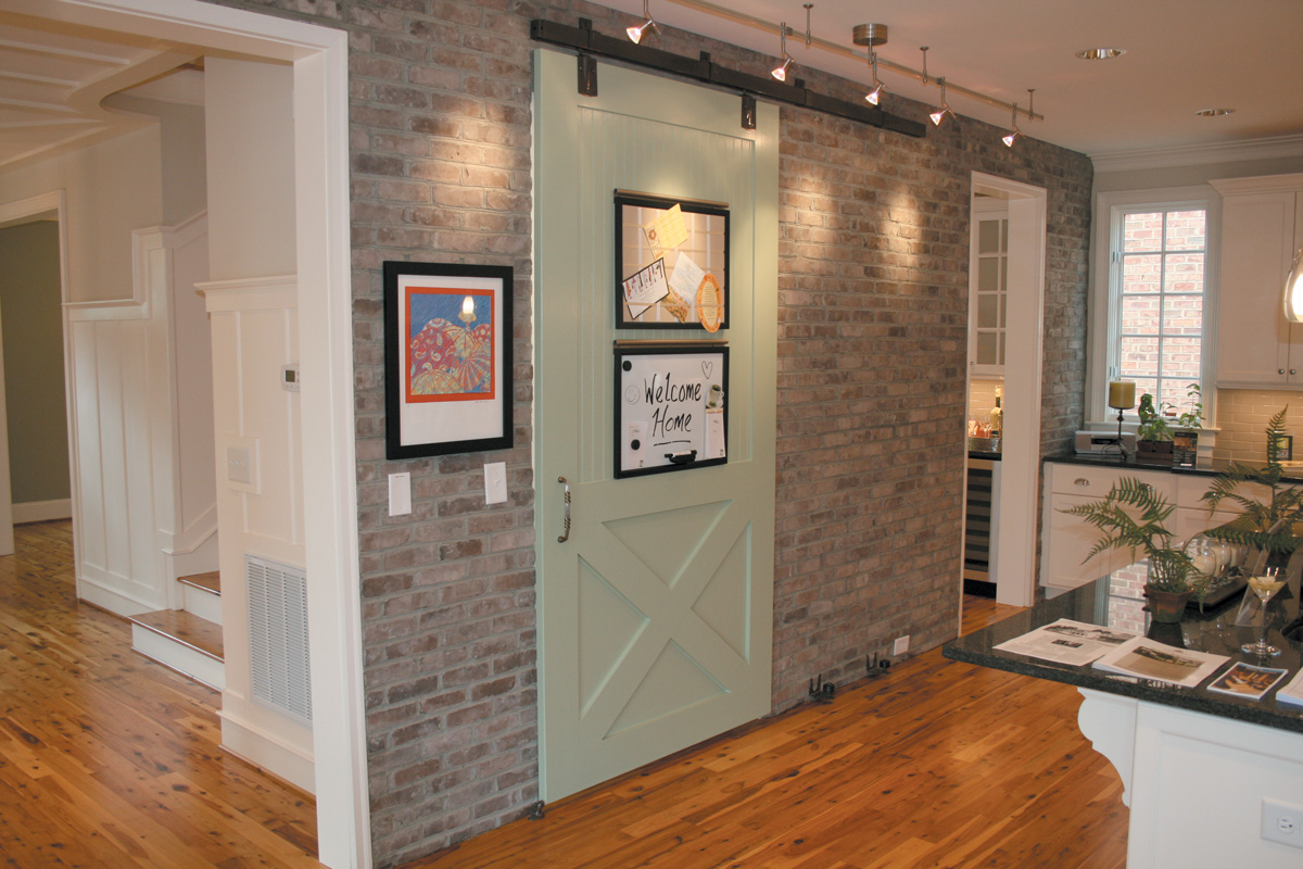 using brick veneer to accent the interior of your home stone concept